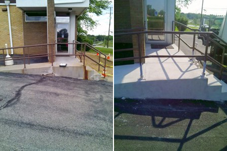 Concrete Step and Ramp Repair