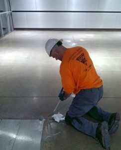 Concrete Repair Specialist at work
