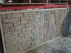 decorative concrete wall stamping