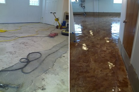 Floor, repair and decorative finish