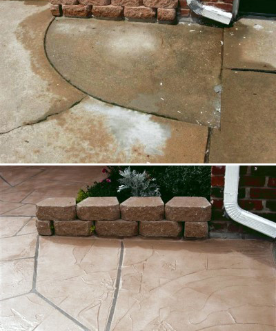 Patio, repair and decorative finish
