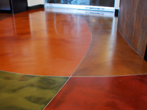 epoxy resin, decorative concrete floor