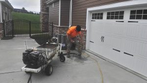 CRS Specialist leveling concrete by mudjacking